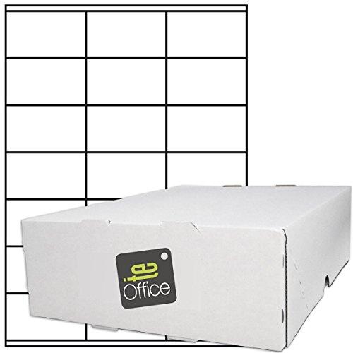TE-Office 10500 Stück Haftetiketten Klebeetiketten Versandetiketten auf A4 Bogen weiß matt 70 x 41 mm Laser Inkjet
