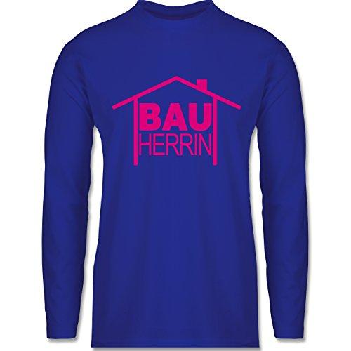 Sprüche - Bauherrin Heimwerker - Longsleeve / langärmeliges T-Shirt für Herren Royalblau
