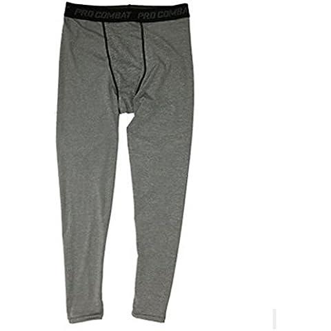 Highdas Pro pantaloni di sport di pallacanestro degli uomini esecuzione di fitness stretto compressione elastica traspirante