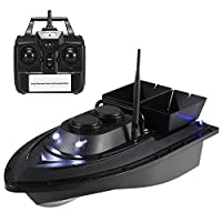 Festnight Smart Fishing Bait Boat Wireless Remote Control Fishing Feeder Toy RC Fishing Boat for Adults Beginners 500M Remote Range