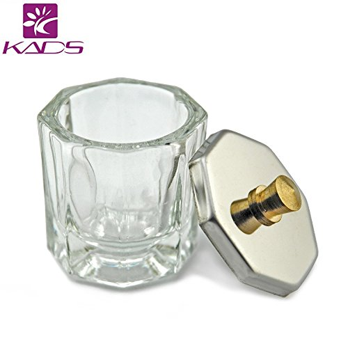 KADS Nail Art Acrylic Liquid Powder Dappen Dish Glass Crystal Cup Glassware Tools - Crystal Cup