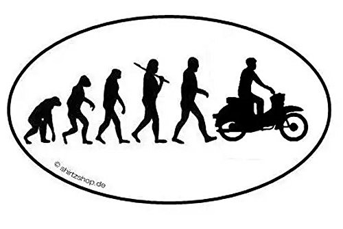 Preisvergleich Produktbild DDR Moped Motorroller Scooter EVOLUTION Aufkleber Autoaufkleber Sticker