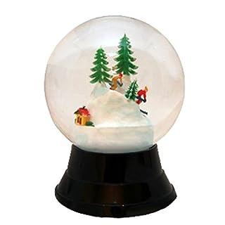 Alexander Taron Importer PR1722 Perzy Decorative Snowglobe with Large Skiers, 7