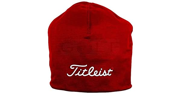 6d6544016 Titleist Performance red beanie hat: Amazon.co.uk: Sports & Outdoors