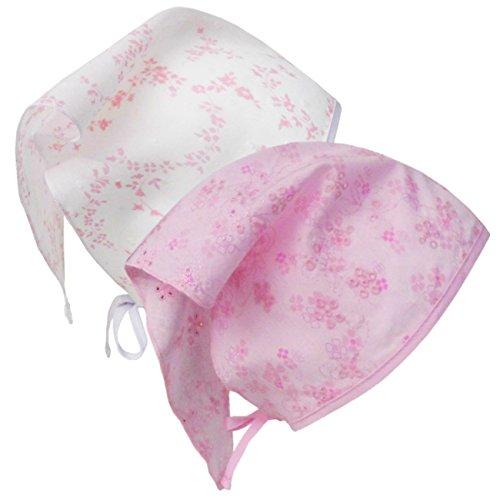 TuTu by Galeja Mädchen Kopftuch 100% Baumwolle Pink mit Lochstickerei Onesize 50/56 Sommer Babykopftuch