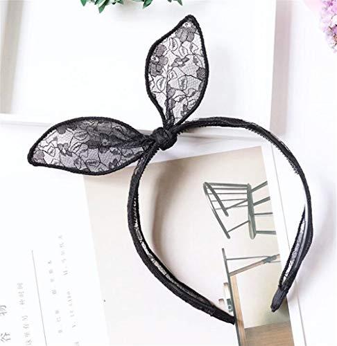 Tery Innovation et Unique Accessoires pour Cheveux en Forme de Bandeau pour Cheveux (Oreilles de Lapin à Large tesa)
