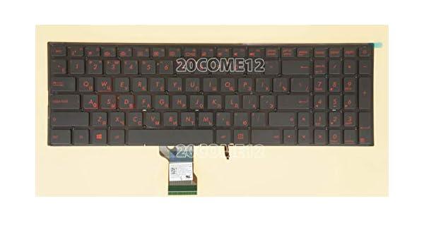 New For Asus ROG G501VW Keyboard Russian RU Red backlit no frame