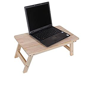 KHSKX Scrivania legno massello semplice computer portatile, resistente al calore casa piccolo tavolo in legno