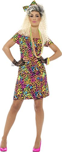 80s Party Animal Costume for Women in three sizes.