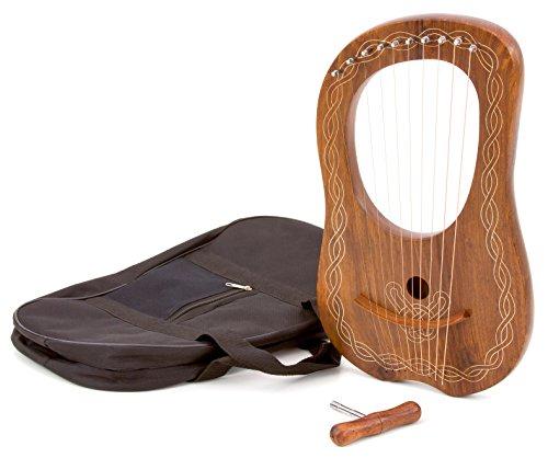 Betzold Musik Kleine Lyra-Harfe, 10 Saiten, stimmbar, qualitativ hochwertig, schöner Klang, aus Hartholz, Holz, 45 cm - Musikinstrumente lernen Musikschule Schule Kinder Musikunterricht Ausstattung