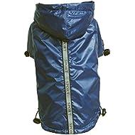 Baoblaze Reflective Nightview Fleece Lined Raincoat Jacket Poncho for Small Dog XS-XXL - Blue, M