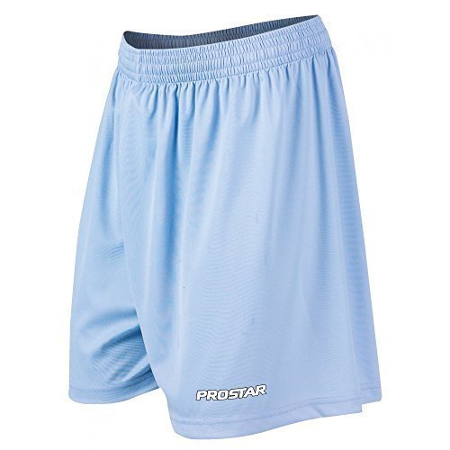 Prostar - Kiev, Pantaloni da calcio corti da adulto, unisex Blu - Cielo