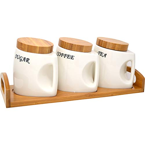 Canister Set with Handle Coffee ...