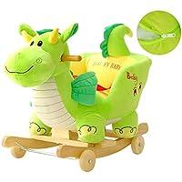 W-SHYP Rocking Horse Early Education Toy Dinosaur Music Rocking Chair Rocking,60 * 28 * 50 (cm)