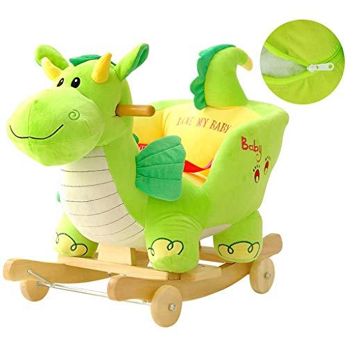 Cheval à bascule LINGZHIGAN Bébé éducation précoce Jouet Dinosaure Musique Chaise berçante Cadeau lumières LED