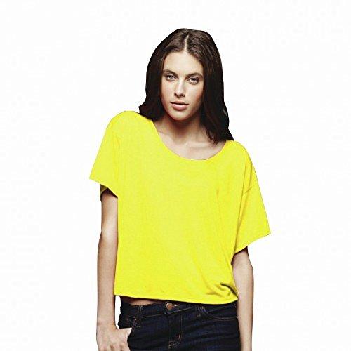 Bella Boxy Damen T-Shirt (L/XL) (Neon Gelb) (Bella T-shirts)