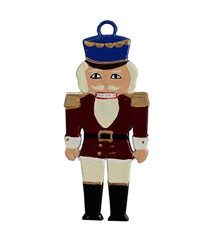Nußknacker aus Zinn von Hand Beidseitig Bemalt. Christbaumanhänger, Christbaumschmuck, Weihnachtlicher Zierschmuck, Zinnfiguren Bemalt