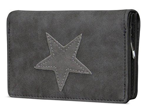 Damen Luxus Canvas Stern Geldbörse Geldbeutel Brieftasche Portemonnaie Damenbörse Börse Test