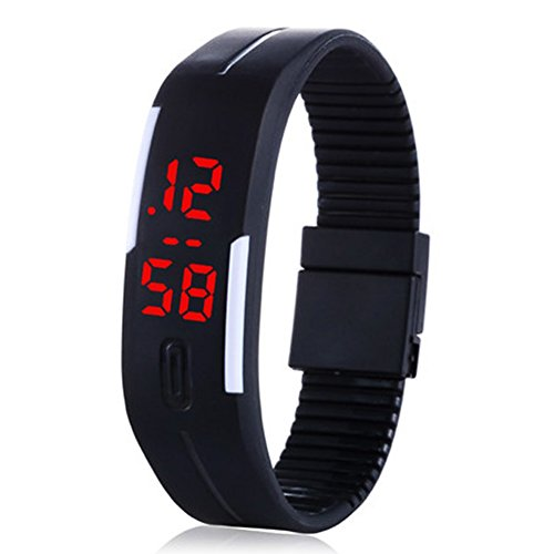- 41DdiYMNzAL - Enjoydeal Fashion Student Digital LED Sports Bracelet Wristwatch Black