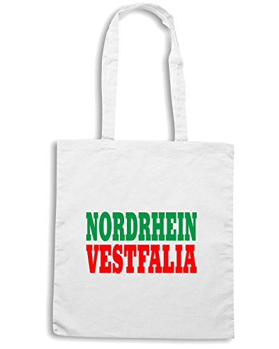 T-Shirtshock - Borsa Shopping WC0848 NORDRHEIN VESTFALIA GERMANY LAND CITY Bianco