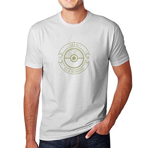 Planet Nerd - Old School - Herren T-Shirt Weiß