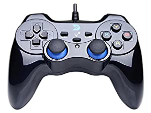 ZD Vibration-Feedback USB Wired Gamepad Controller Joystick Support PC(Windows XP/7/8/8.1/10) & PS3 & Android