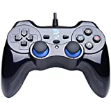 ZD-V+ Vibration-Feedback USB Wired Gamepad Controller Joystick Support PC(Windows XP/7/8/8.1/10) & PS3 & Android (PS architecture) - [Black]