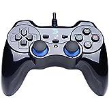 ZD-V+ retroalimentación de vibración USB con cable Consola de juego Mando Gamepad Controller Joystick apoyar PC(Windows XP/7/8/8.1/10) & PS3 & Android (arquitectura PS) - [negro]