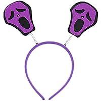 Wafalano Cabeza Hebilla, Accesorios de Halloween Bruja Esqueleto Fantasma Murciélago Sombrero Hebilla Vestido de Moda Accesorios Fiesta Rendimiento Vestido de Halloween