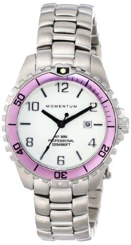 Momentum 1M-DV07WR0 - Reloj de cuarzo para mujer, con correa de acero inoxidable, color plateado