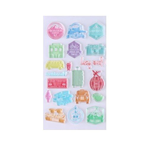 1 Pc Multi Muster Klar Stempel Transparente Silikon Stempel Siegel Scrapbook für DIY Reisen Leben Tagebuch(#3)