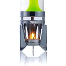 Mathmos Fireflow R1 Candle Lava Lamp – Chrome Clear/Green