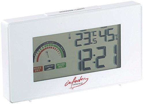 infactory Funkuhren: Digitaler Funkwecker mit Thermometer und Hygrometer (Wecker mit Zimmerthermometer)