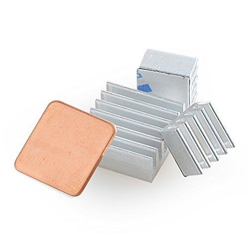 Aukru-Dissipateur de chaleur pour Raspberry Pi aluminium, 4pièces, couleur argent
