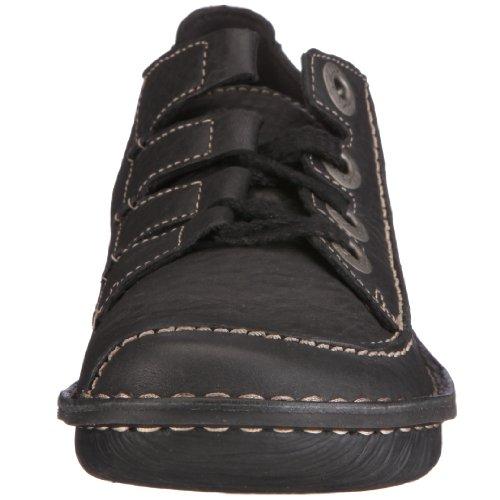 Clarks 20337700 Funny Story, Damen Halbschuhe Black Leather