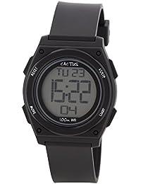 Cactus CAC-66-M01 - Reloj de pulsera niños, Plástico, color Negro