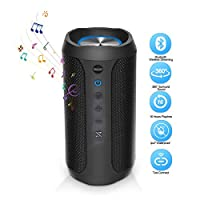 BACKTURE Bluetooth Speaker, Portable Bluetooth 4.2 Wireless Speaker with Party Light and Wireless Stereo Audio and Enhanced Bass 24H Playtime 33ft Bluetooth Range used for IOS/Android phone PC TV
