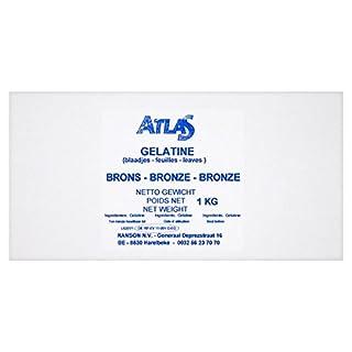 Atlas Gelatine Leaves Bronze 1kg (Pack of 1kg)