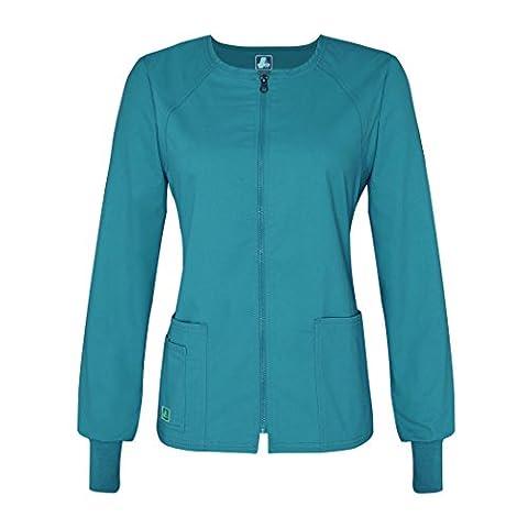 Adar Pop-Stretch Junior Fit Zip Front Warm Up Jacket -
