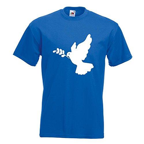 KIWISTAR - Friedenstaube T-Shirt in 15 verschiedenen Farben - Herren Funshirt bedruckt Design Sprüche Spruch Motive Oberteil Baumwolle Print Größe S M L XL XXL Royal