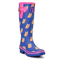 Evercreatures Owl Tall Wellies UK 4/EU 37 Purple