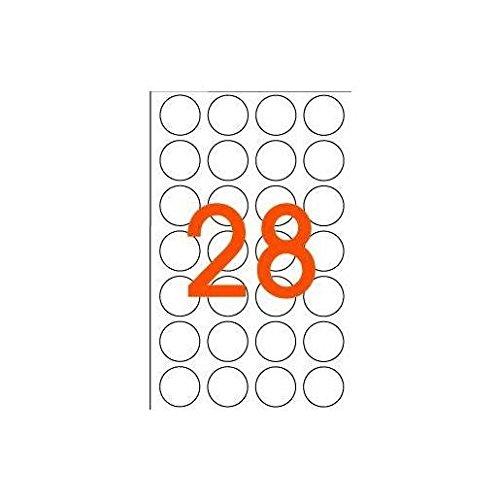 AGIPA Lot de 5 Sachets de 168 étiquettes Gommettes de signalisation Rondes 15 mm Orange