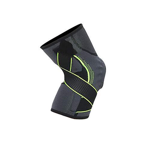 gzlstar. Knieschutz,Europa Und Die Vereinigten Staaten Outdoor-Silikon-Federband Unterstützung Anti-Rutsch-Sport-Kniebänder Druck Fitness Druckschutz (1Pce), Grün M -