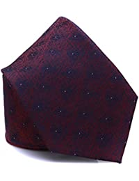 Prettystern - Classical and elegant silk tie with woven pattern for Men