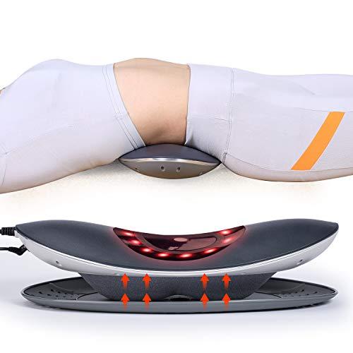 Hangsun Rückenmassagegerät Elektrische Lumbale Traktion ML90 Taille Wirbelsäule Bahre Shiatsu Kissen Untere Rückenschmerzen Relief mit Luftdruck, Heizung/Virbring Massage -