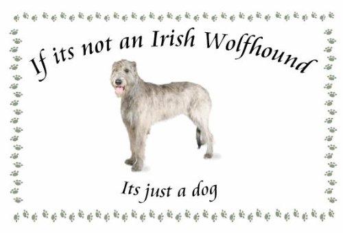 Irischer Wolfshund-Neuheit Hund Schlüsselanhänger-Wenn es nicht -