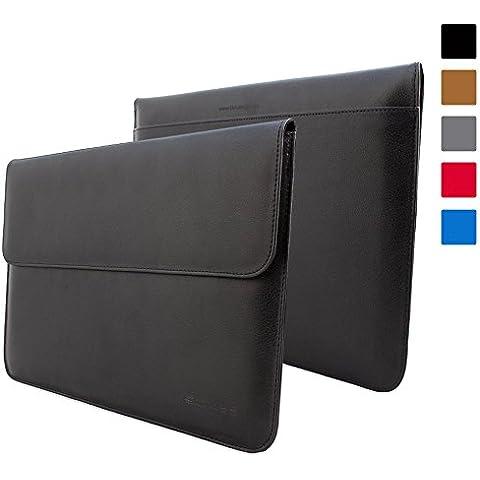Snugg iPad Pro 12.9 Cassa del Manicotto (Nero), Portafoglio Copertina in Ecopelle con una Garanzia (Manicotto Di Chiusura Copertina)