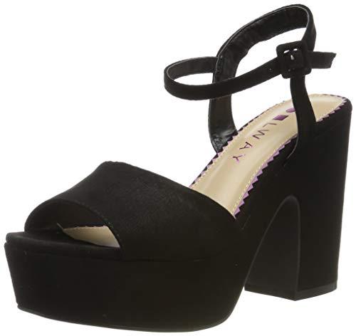 COOLWAY CRYS, Zapatos Tira Tobillo Mujer, Negro Black