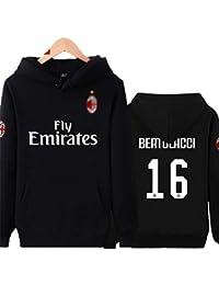 Shocly Sweat-Shirt AC Milan Football Club Cadeau De Sweat Club De Football  De NoëL 10f77ae90c0