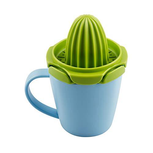 Exprimidor Creativo Con Taza Exprimido Manualmente Mini Procesador De Alimentos Con Limón, Exprimidor Multiusos,Blue